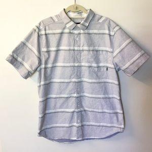 Nixon Clayton Striped Button Down Shirt - XL